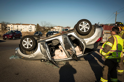Rollover accident Randall & Bowes - 03/28/2015