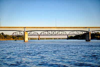 Bridges over Missouri River in Mandan, ND