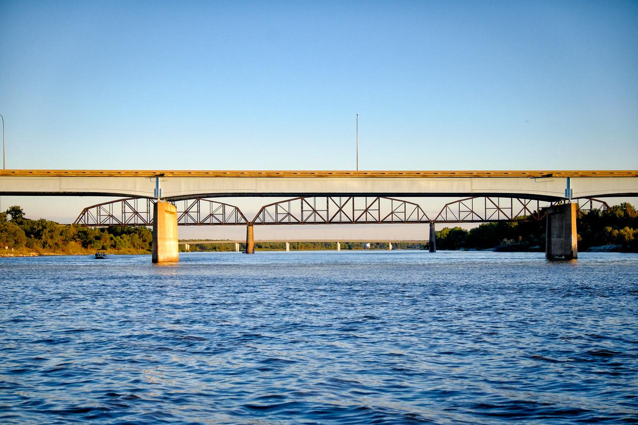 Bridges over Missouri River in Mandan, ND