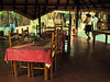 as well as the adjacent dining area are all open air under fabulous thatch,