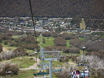 Descending to Thredbo Village on the chairlift