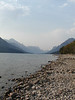 Waterton Lake, AB; looking south towards Montana and the USA.