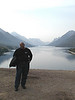 George at Waterton Lake.  Lots of fires in Montana and Idaho that summer so it was a bit hazy.