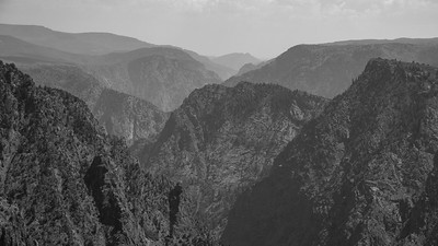 Black Canyon of the Gunnison National Park - B&W