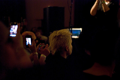 The event was well documented. During the amazing final set on Sunday night.