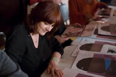 Cosey Fanni Tutti during the VIP meet and greet and signing.