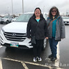 Pauline Sackaney ad Denise Lantz at Northern Regional Training in front of rental Hundyai Tucson with Manitoba plates.