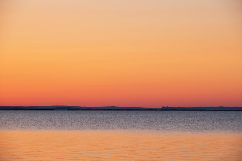 Thunder Bay harbour before sunrise.