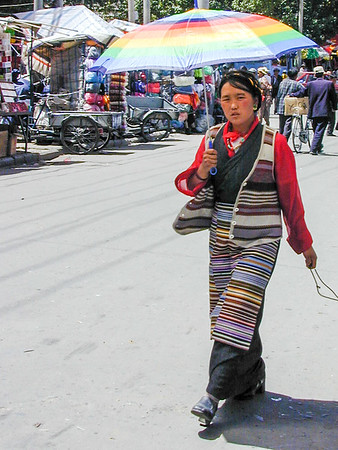 In the market (Barkhor) in Lhasa.