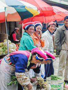 People in the town of Shangri-LA (formerly Zdongdian in Yunnan Province, China)