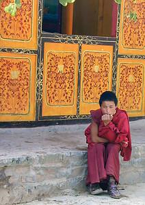Young monk. Tashilumpo Monastery, Shigatse.