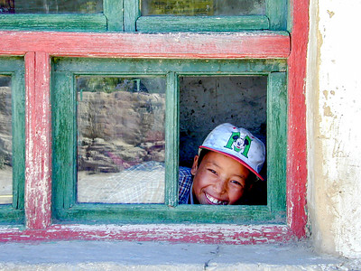 Boy at a school near Tsedang, Tibet.