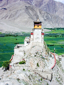 Yumbu Lagang, the first monastery in Tibet. Near Tsedang.