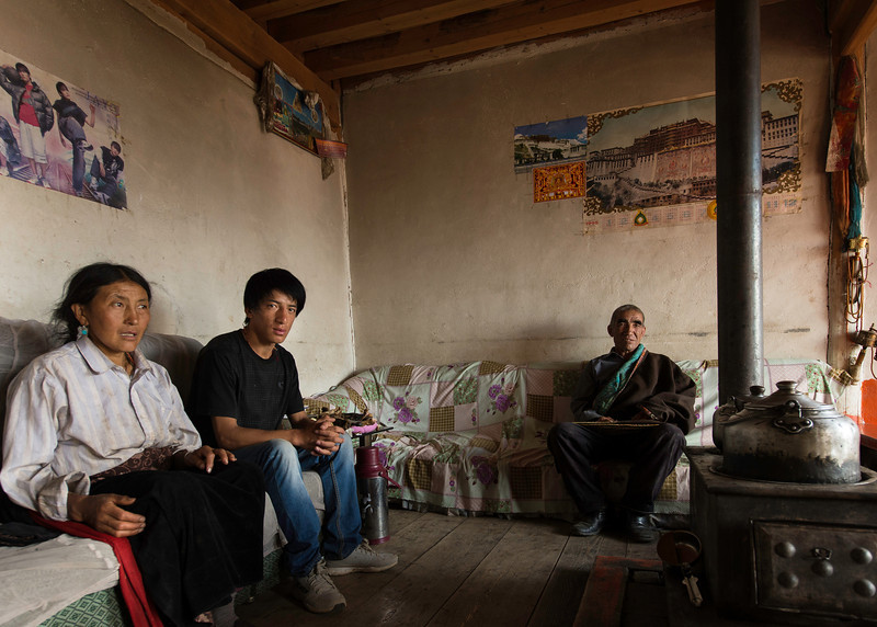 A Maggan Village family in their home