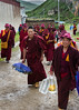Nuns at the Ani (nunnery) Tashi Gompa near Tagong