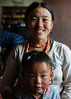 Lhamo Dolma and her son Droma Tsering