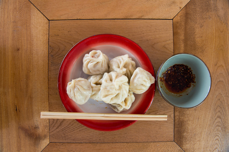 Tibetan momo lunch