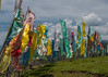Tibetan prayer flags on the hill above Maggan Village
