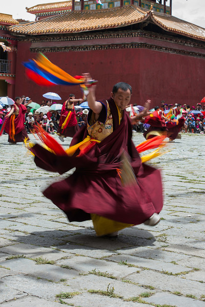 Lama Abu performing Cham at Lhagong Gompa