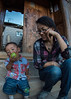 Tsering Tso and her nephew Droma Tsering