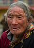 Tibetan man during the cham in Tagong