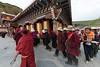 Circumambulating at Ani (nunnery) Tashi Gompa