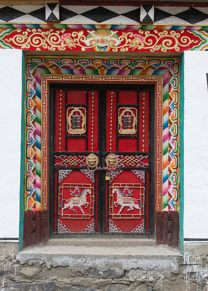 Typical entry door to a Tibetan family compound