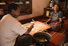 Gongpa Ta and Gonpo Tso making Tibetan dumplings or momo's