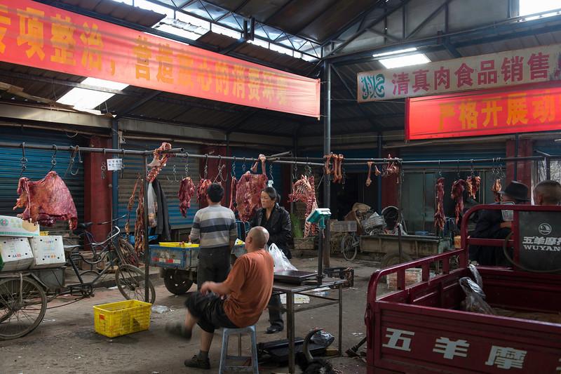 Meat market in Amdo