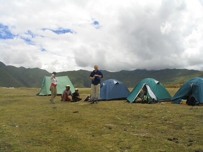 Our first camp site down the road from Ganden Monastery.