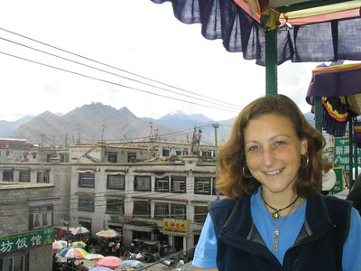 My first picture in Tibet at the New Mandala restaurant.  Great garlic naan and masala chai.