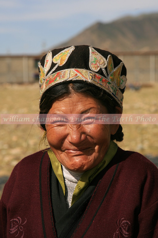 Faces of Tibet- 13<br /> This style hat is seen only in this valley located in central Tibet