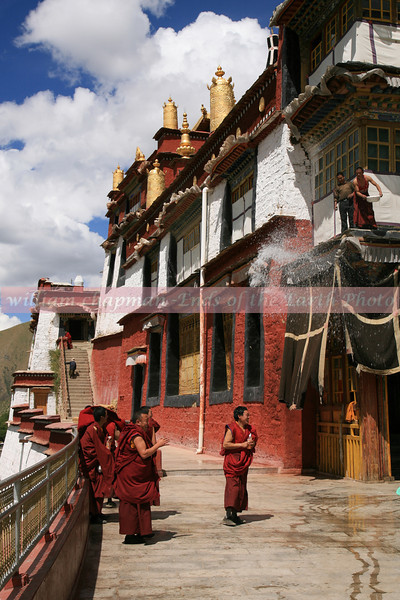 Water fight at Drigung Monastery