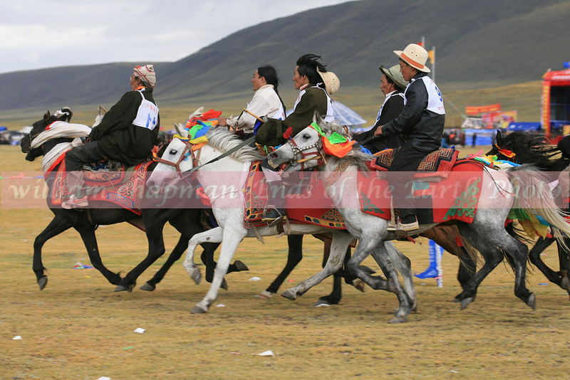 Riders at Nagchu Horse Festival- Central Tibet