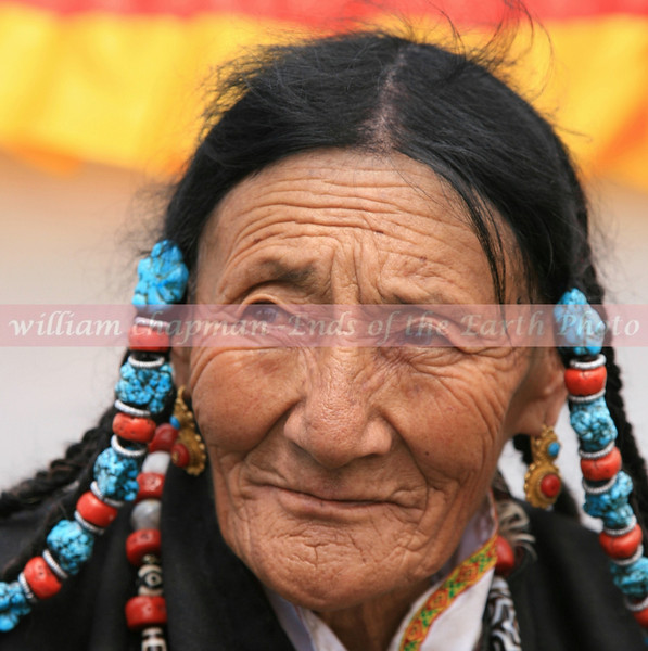 Woman from central Tibet dressed for Nagchu horse festival