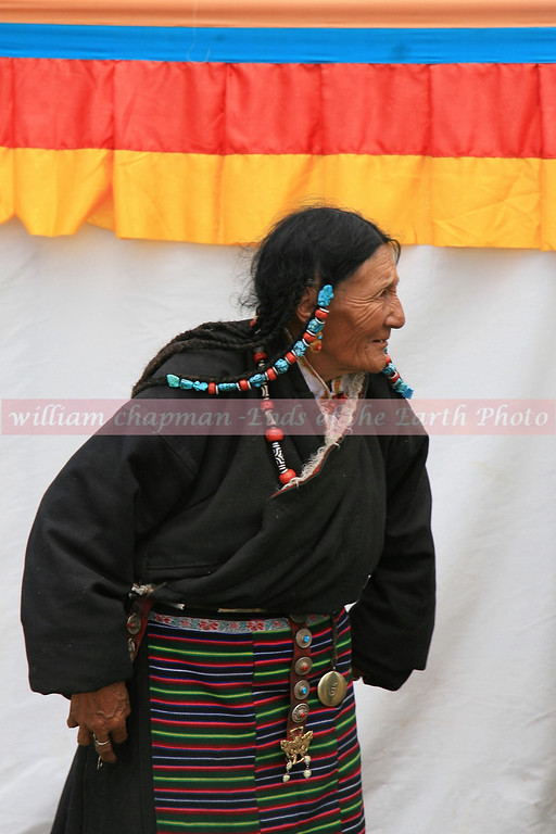 Dressed for festival at Nagchu horse festival- north central Tibet