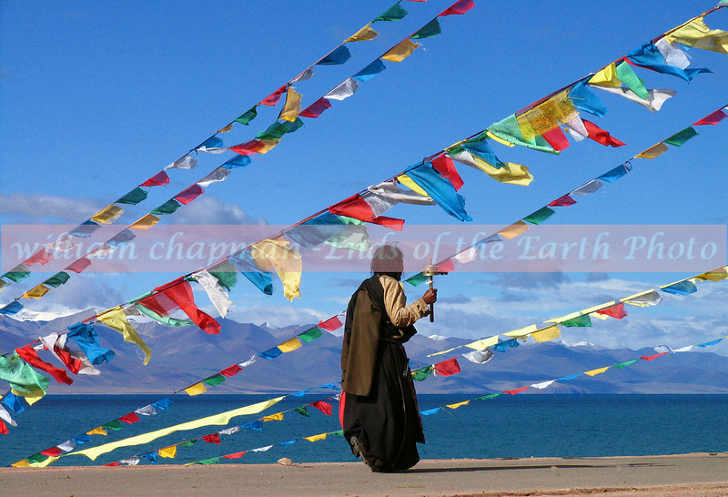 Pilgrim at Namtso Lake Hermitage