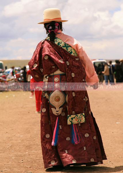 Festval Regalia at Nagchu Horse Festival- Central Tibet