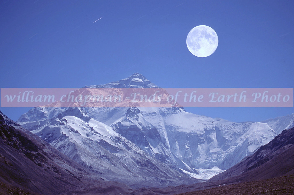 Mount Everest Full Moon