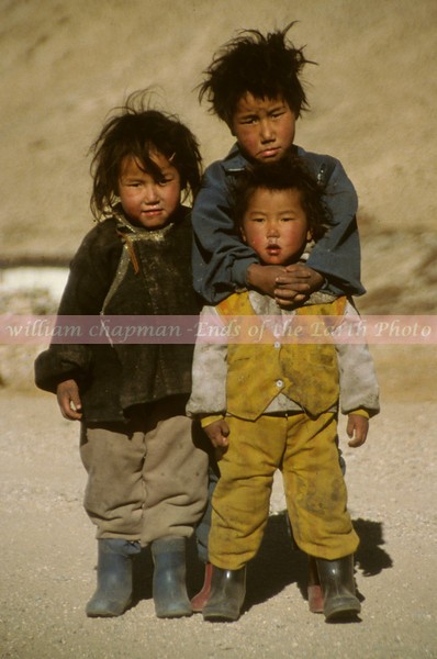 Tibetan Childdren near Nylam- Central Tibet