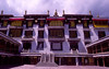 Courtyard of the Drepung Monastery in Lhasa, once the teaching monastery with the most monks and nuns of any in Tibet