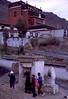 Pilgrims circumnambulating the Tasilhunpo Monastery in Shigatse, Tibet