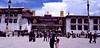 Front and main Courtyard of the Jokhang Monastery in Lhasa, Tibet