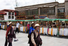 """Barkhor and the ring of streets surrounding the Jokhang (the """"kora"""") are lined with stalls and shops selling prayer goods, souvenirs, hats, etc."""