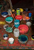 Paints used to make a thangka