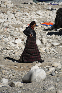Tibetan woman at Everest base camp