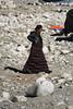 Tibetan woman at Everest base camp