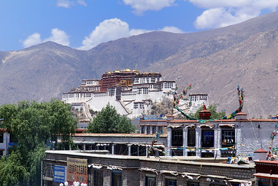 Potala Palace from roof of Jokhang Temple