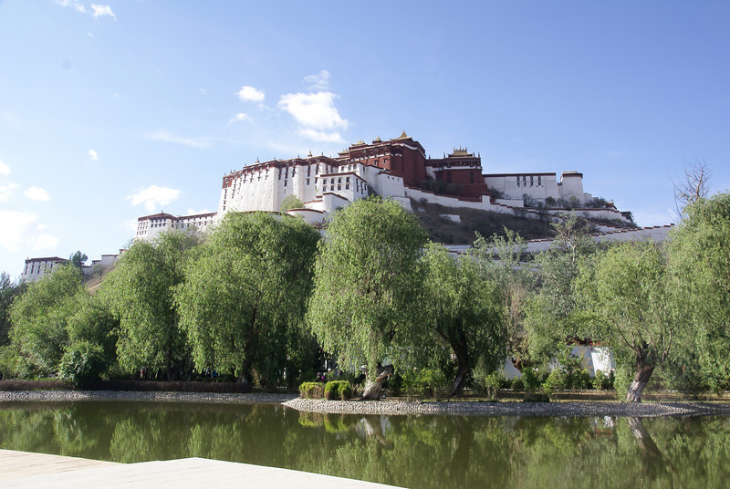 Rear view of Potala Palace.