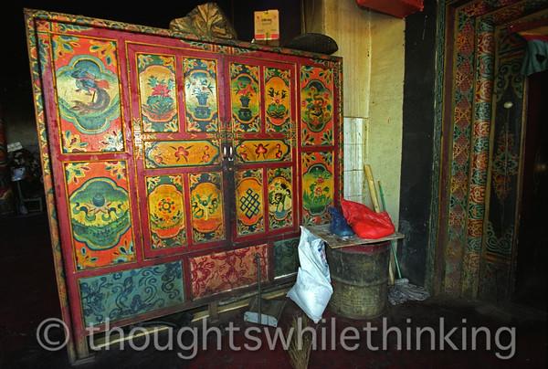 Tibet 2006 Ganze Gompa kitchen pantry Aug 9